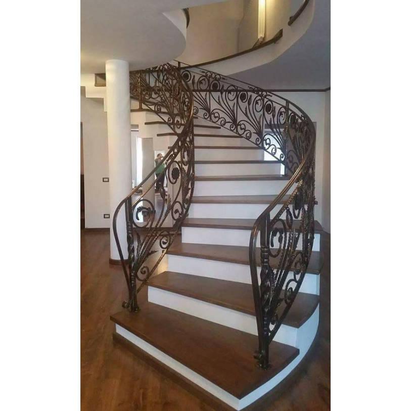 Escalier balustrade fer forg style ancien bsv m tal for Balustrade fer forge