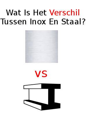 Wat Is Het Verschil Tussen Inox En Staal?