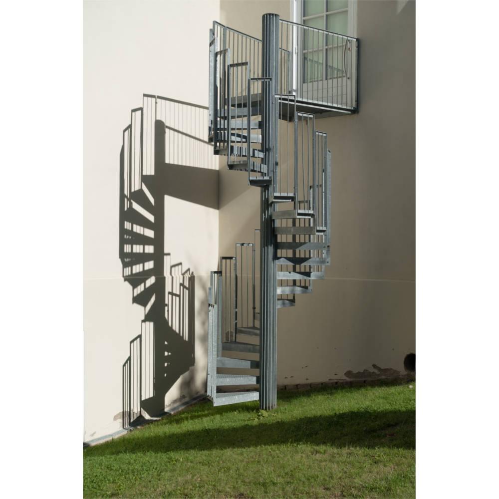 Escalier De Secours Colimaçon Galvanisé