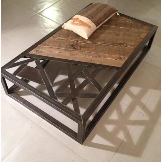 Table Basse Acier Style Minimaliste